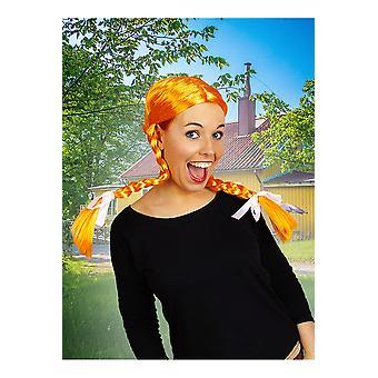 Pomarańczowe peruki peruka z plecionki