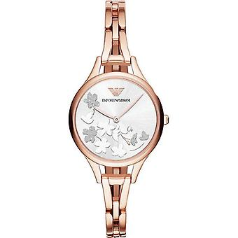 Emporio Armani Ar11108 Gianni T-bar Rose-gold Tone Ladies Watch