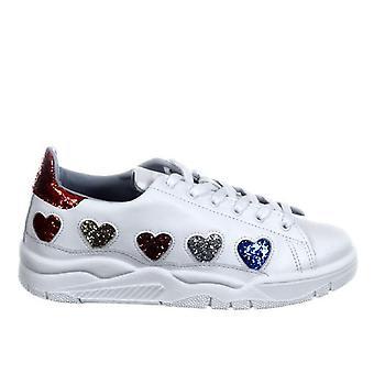 Chiara Ferragni Cf1911 Women-apos;s White Leather Sneakers