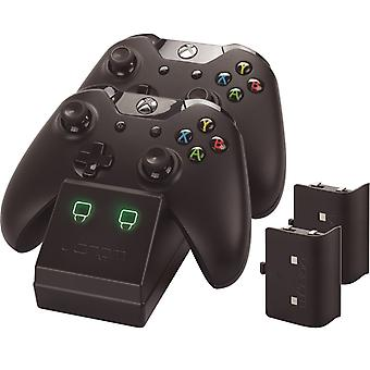 Twin docking station with 2 x rechargeable battery packs: black (xbox one)