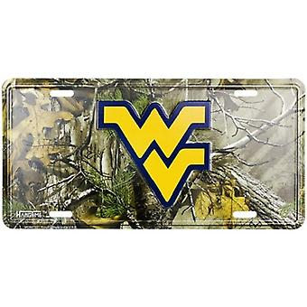 West Virginia Mountaineers NCAA Camo License Plate