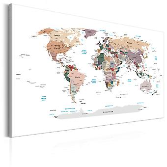Quadro - World Map: Where Today?
