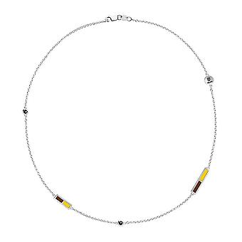 Valparaiso University Quartz Stone Chain Necklace In Sterling Silver Design by BIXLER