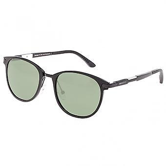 Breed Orion Aluminium Polarized Sunglasses - Black/Black