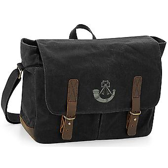 Light Infantry - Licensed British Army Embroidered Waxed Canvas Messenger Bag