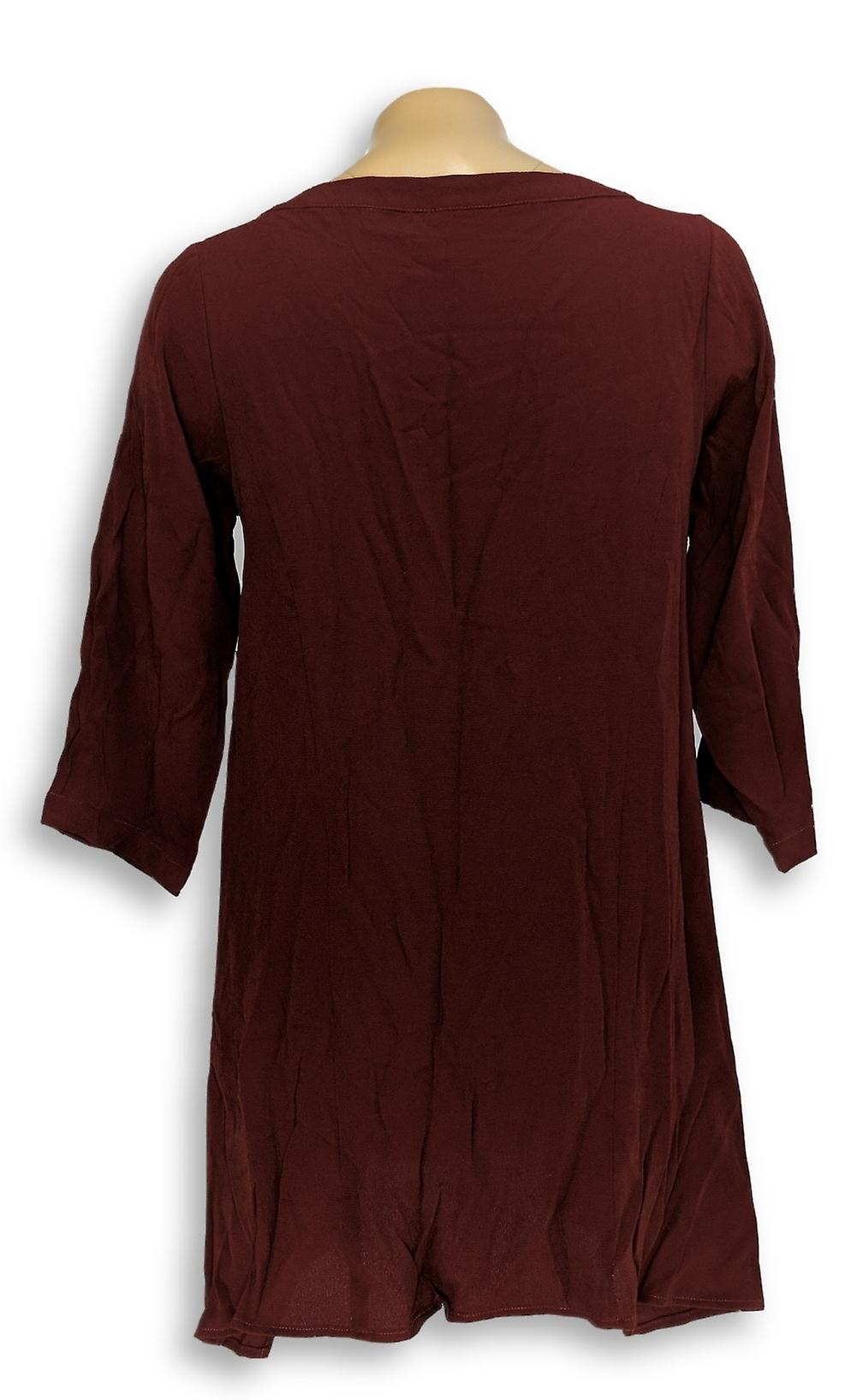Linea by Louis Dell'Olio Women's Petite Top Pebble Crepe Tunic Red A311557