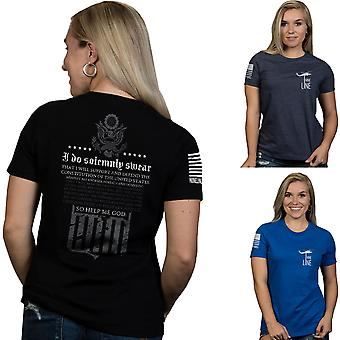 Nine Line Apparel Women's The Oath Relaxed Fit Short Sleeve T-Shirt