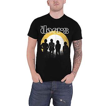 The Doors T Shirt Dusk distressed Band Logo new Official Mens Black