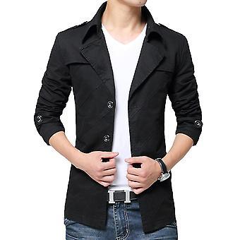 Allthemen Men's Autumn Jacket Slim Fit Lapel Business Casual Jacket
