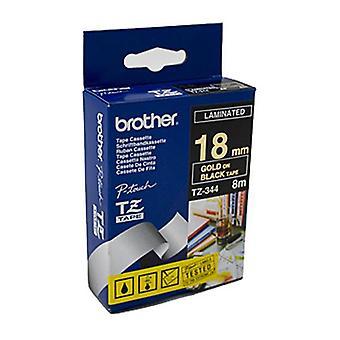 Brother TZe344 Märktejp 18 mm