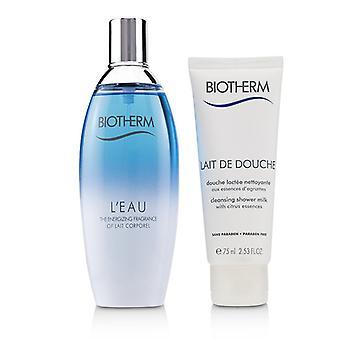 Biotherm L'eau Coffret: Eau De Toilette Spray 100ml/3.38oz + Cleansing Shower Milk 75ml/2.53oz - 2pcs