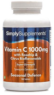 Vitamin-c-1000mg-rosehip-citrus-bioflavonoids - 180 Tablets