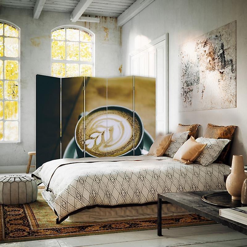 Diviseur de chambre, 5 panneaux, double-sided, Rotatable 360, toile, fabricant de modèle