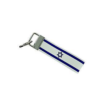 Porte Cles Clefs Voiture Moto Bande Tissu Drapeau Maison Tuning Israel