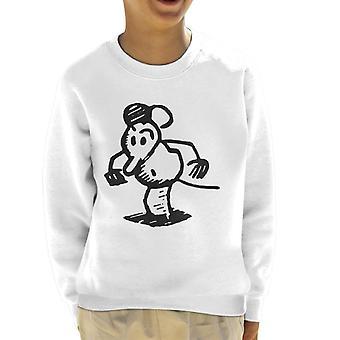 Krazy Kat Ignatz Mouse Serious Kid's Sweatshirt