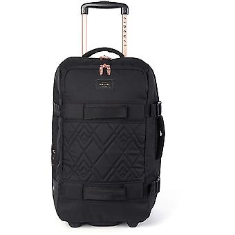 Rip Curl F-Light Transit Rose Wheeled Luggage in Black
