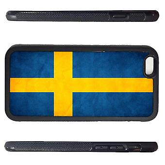 Iphone 6 shell with rustic Sweden flag picture Print