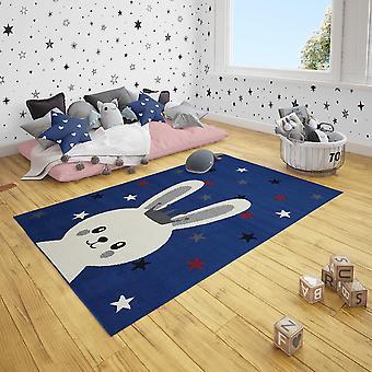 Kurzflor Kinderteppich Star Bunny Hase Häschen Sterne