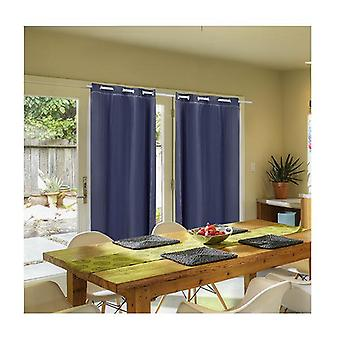 2 Pcs 3 Layers 140X230Cm Blockout Curtains Soft Gauze