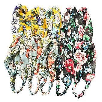 Jewelcity Womens/Ladies Floral Print Headscarves (Pack of 10)