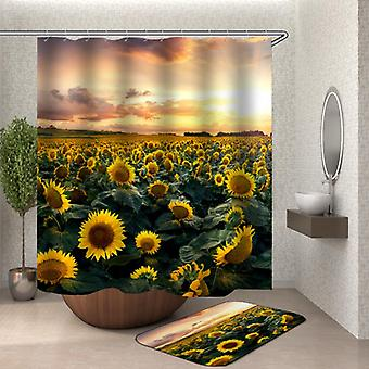 Sunflower Field dusj Curtain