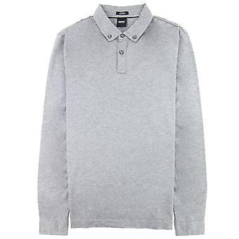 Hugo Boss Paver 12 Long Sleeve Polo Camicia Grigio