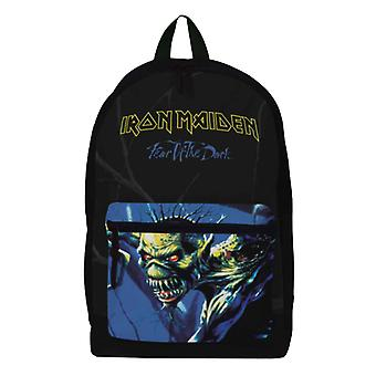 Iron Maiden Backpack Bag Fear of the Dark Band Logo Pocket new Official Black