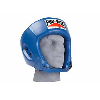 Pro box base spar boxing head guard - blue
