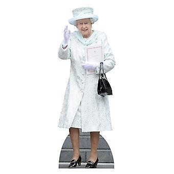 白の女王エリザベス 2 世のコート Lifesize のボール紙の排気切替器/明かり取り