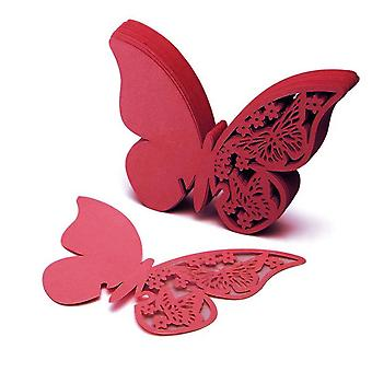 50pcs Butterfly Precise Cut Wine Glass Paper Name Place Card