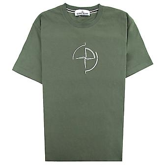 Stone Island 2NS89 Data Scan T-shirt Olive V0058