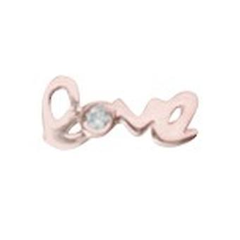 14 k Rose Gold Single 0.01 Dwt Diamant Liebe Ohrstecker Schmuck Geschenke für Männer