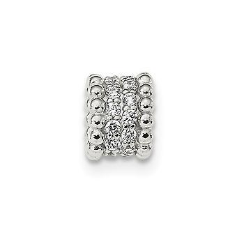 7mm 925 Sterling Argent CZ Cubic Zirconia Simulated Diamond Chain Slide Bijoux Cadeaux pour les femmes