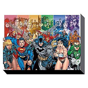 Justice league 60cm x 80cm wall art canvas