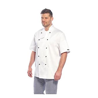 Portwest kent chef wokwear giacca cappotto c734