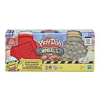 Play-Doh E4508EU4 Wheels-Buildin Compound-2 Pack,brick