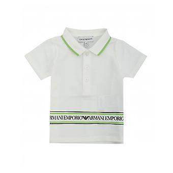 Armani Junior Logo Banner Polo