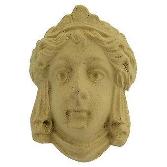Decorative wooden cameo head