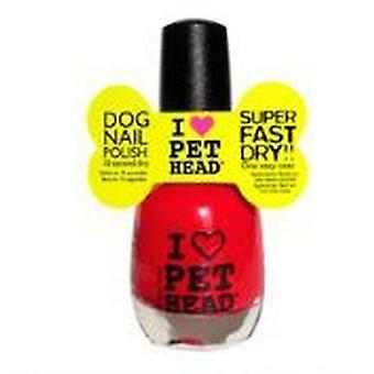 Pet Head Pet Dog Nail Polish Red Head (Single Unit)