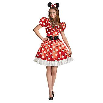 Red Minnie Mouse Adult Costume