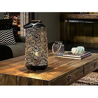 Schuller Noa - Lamp of 1 light made of punched metal, external finish in black, golden inside. G plug type (UK). - 467235UK
