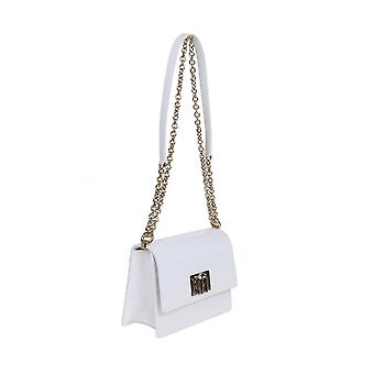 Furla 1064449 Women's White Leather Shoulder Bag