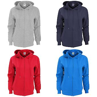 SG Ladies Full Zip Plain Hooded Sweatshirt