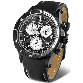 Vostok Anchar Submarine Quartz Analog Man Watch with Cowskin Bracelet 6S30-5104184