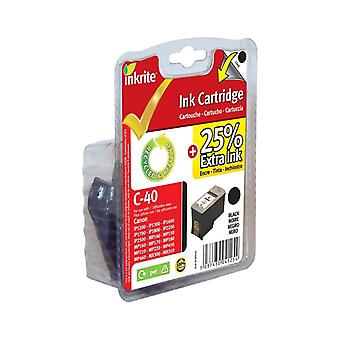 Inkrite NG Ink Cartridges (PG-40) for Canon ip1200 1300 1600 1700 2200 MP150 170 450 - PG40 Black