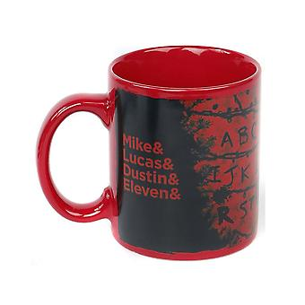 Stranger Things, Heat-Changing Mug - R, U, N