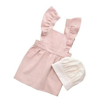 Sebra - apron and hat - dusty pink