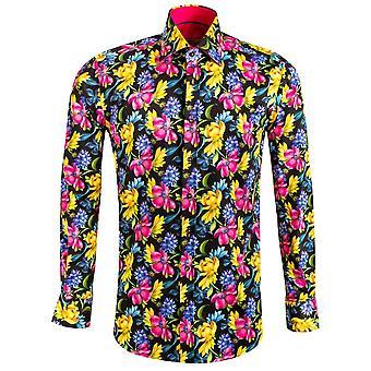 كلاوديو Lugli النباتية تصميم الأزهار طباعة قميص Mens