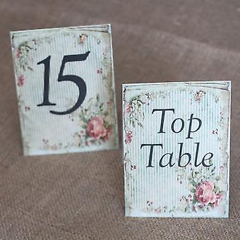מספרי שולחן חתונה וינטאג' פרחוני פסים - 1 - 15 אוהל קיפול וינטאג' חתונה