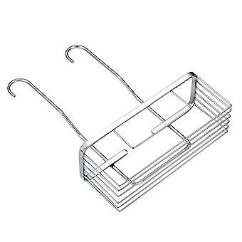 Storage hanging basket, multifunctional storage basket, stainless steel floor mesh double hook hanging basket, kitchen living room